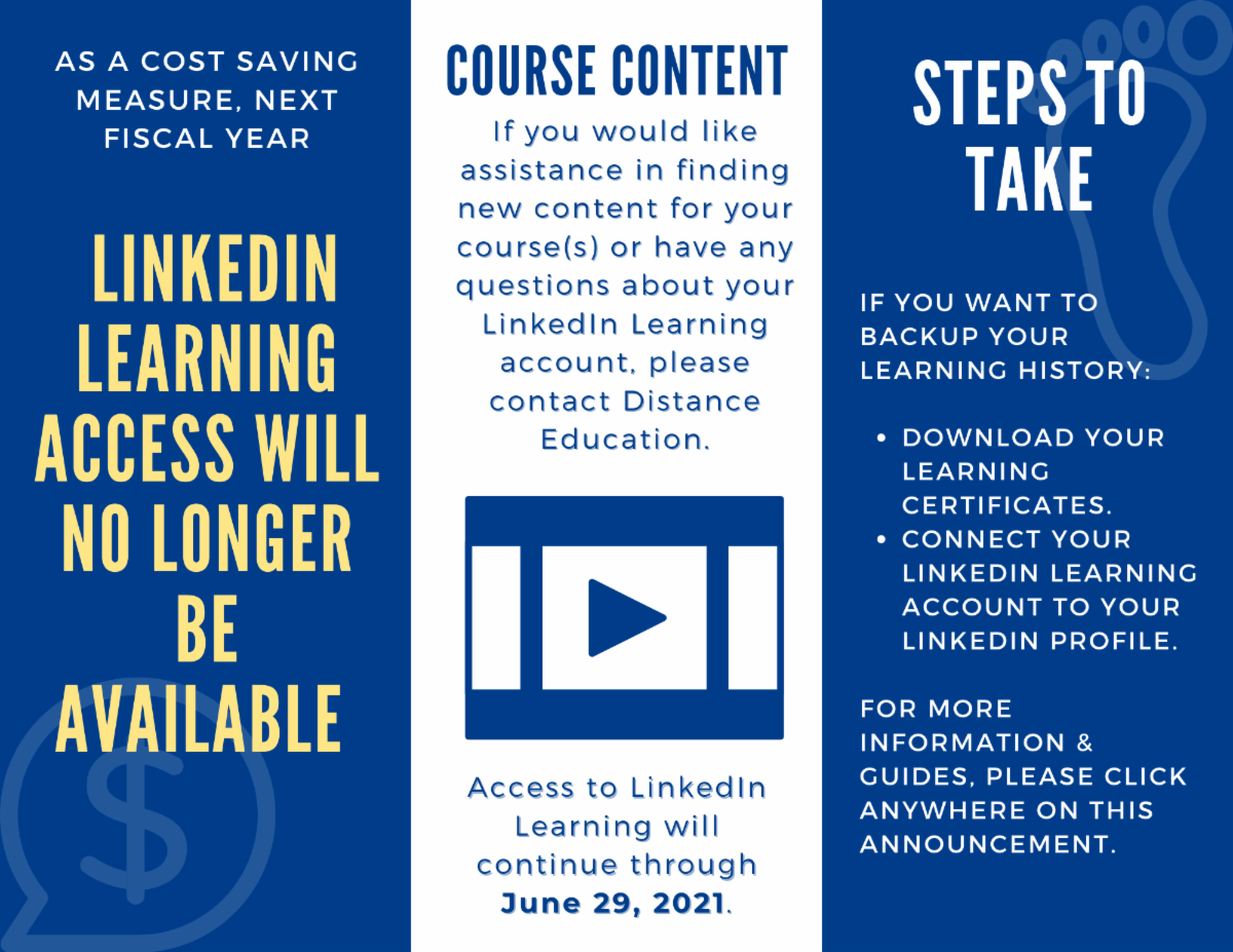 Access to linkedin learning will continue through june 29 2021