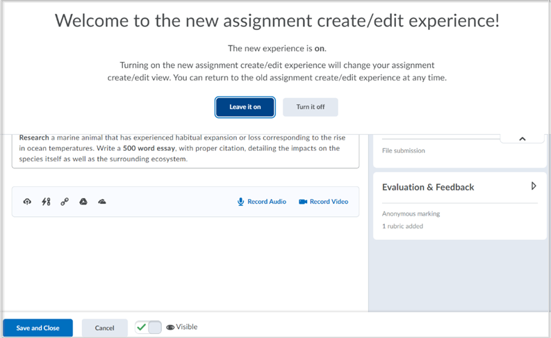 Assignment Creation Tool