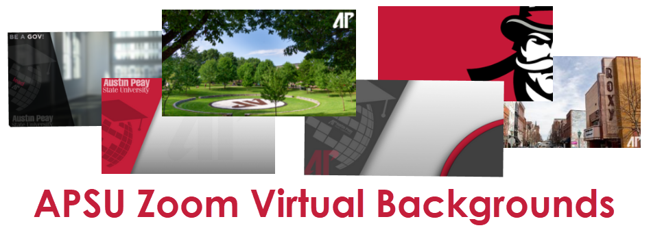 APSU Zoom Virtual Backgrounds graphic
