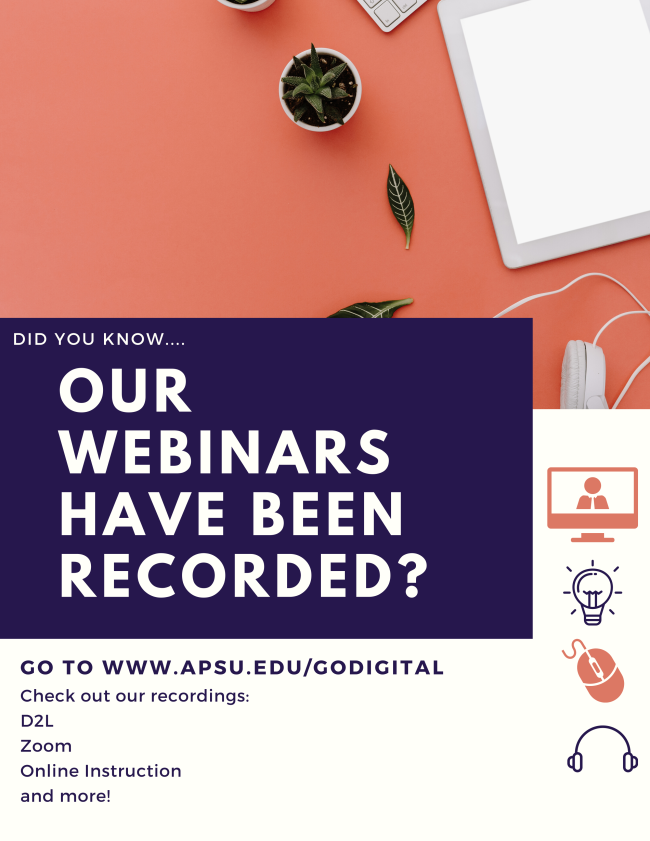 Did you know that our webinars have been recorded