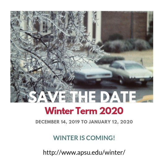 Winter Term 2020 save the date graphic