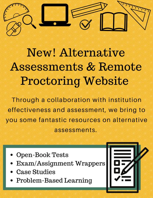 Alternative assessments website advert