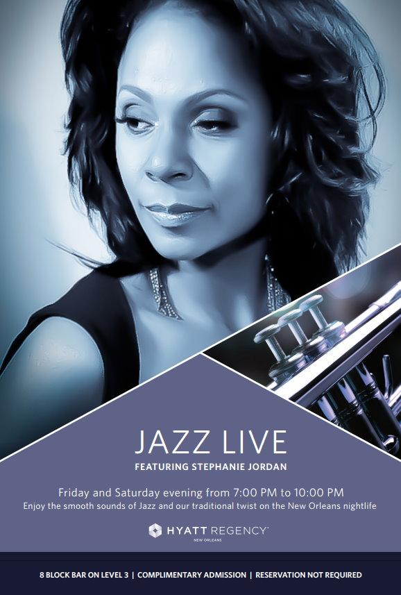 Stephanie Jordan - Jazz Live Hyatt Official Poster