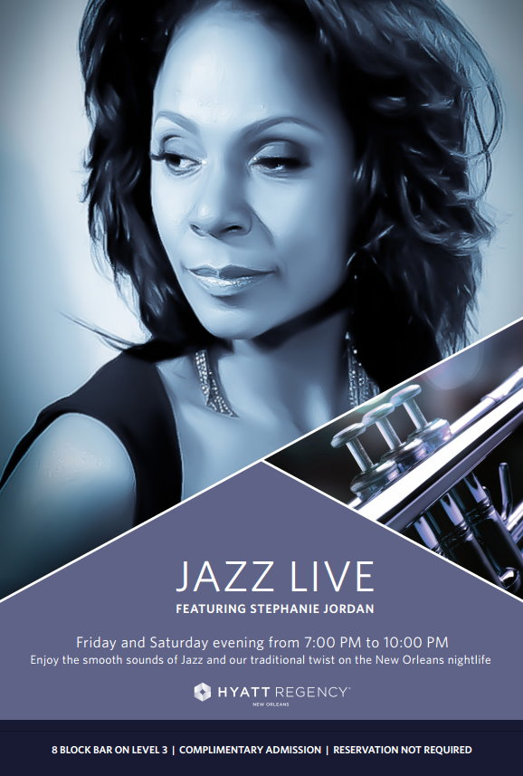 Stephanie Jordan - Jazz Live Hyatt Official Poster