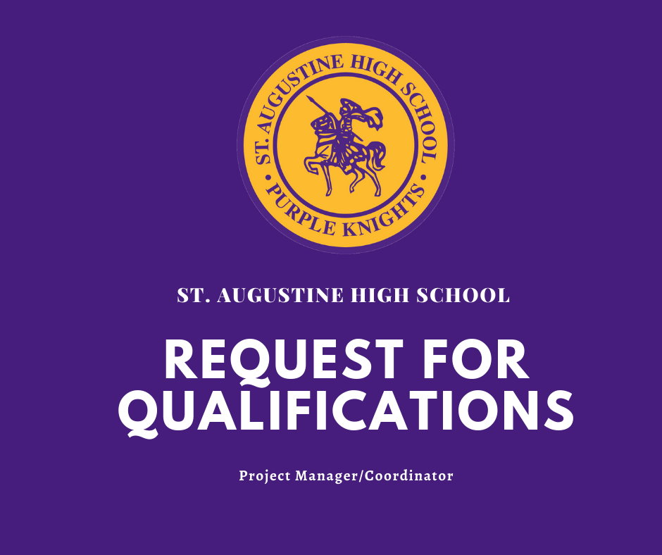 St Augustine High School - RFQ_Project_Manager_2021
