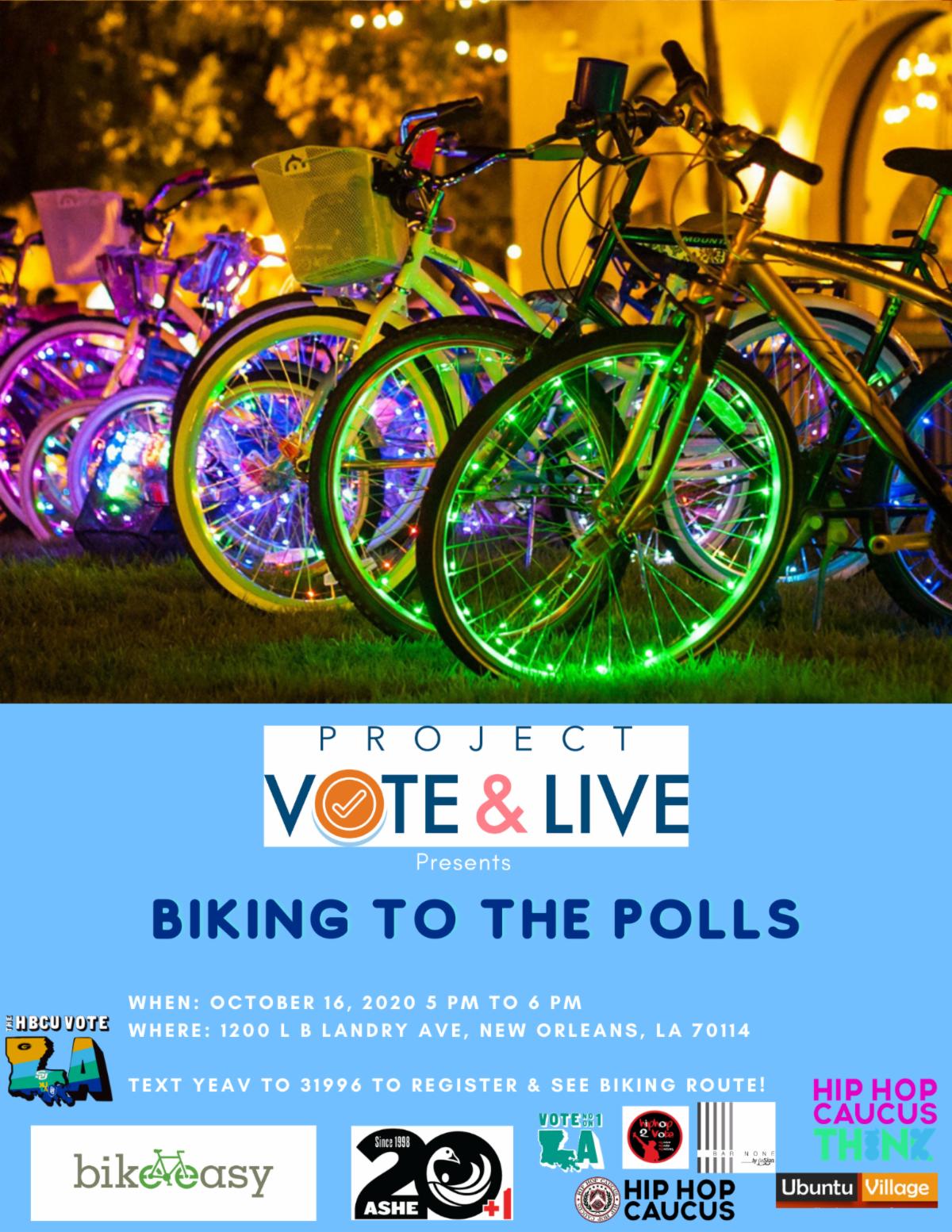 Biking to the Polls Flyer