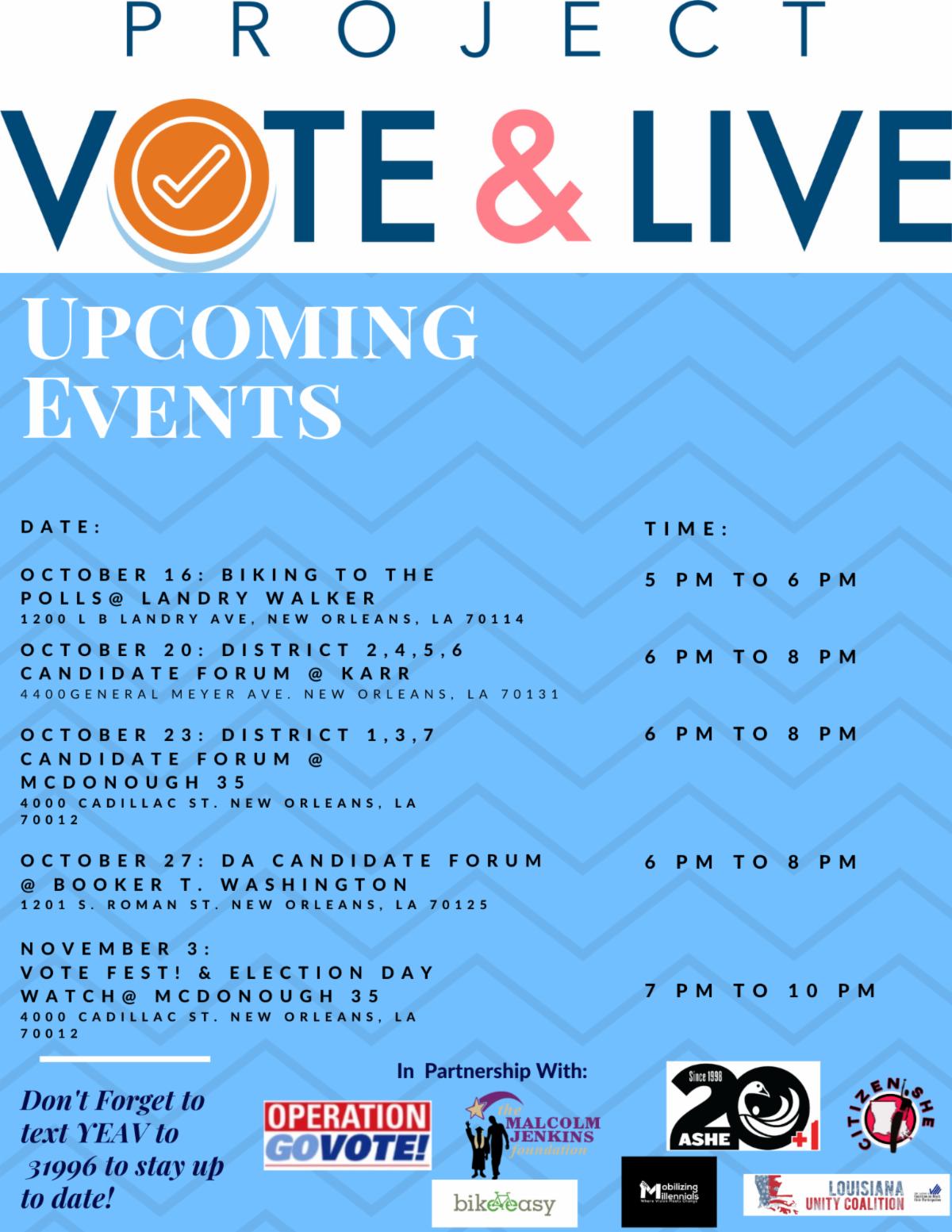 YEVA schedule of events