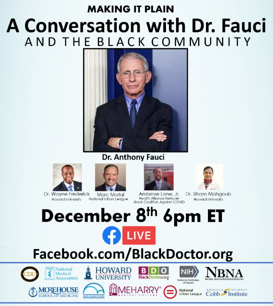 A Conversation with Dr. Fauci and the Black Community._top