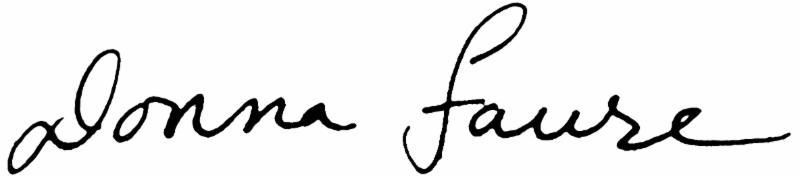 Donna Faure Signature