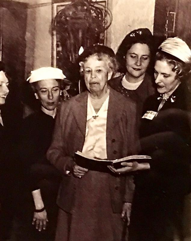 Eleanor Roosevelt at the First WDC Luncheon