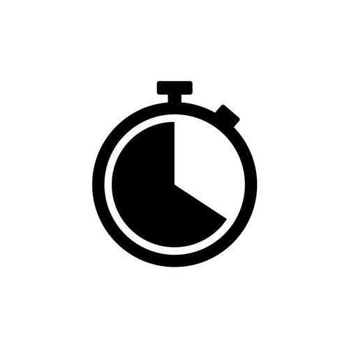 Stopwatch icon symbol vector. Timer icon symbol illustration