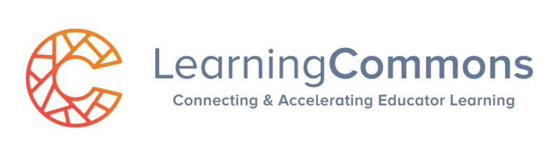 Logo reading Learning Commons, Connecting and Accelerating Educator Learning
