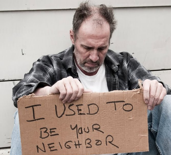 homeless person used to be your neighbor