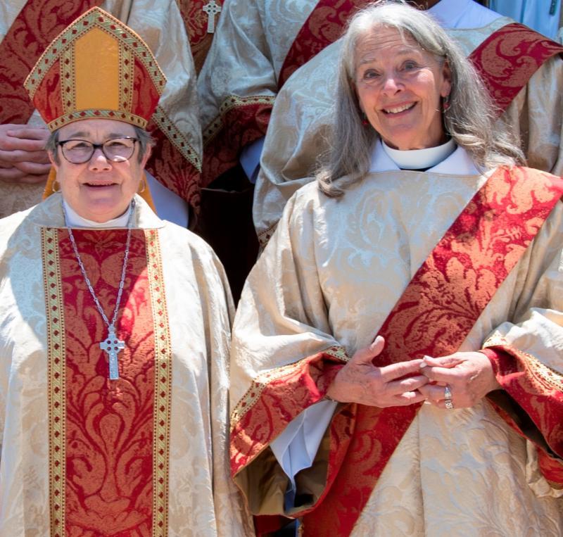 The Rev. Judith Lyons at her Ordination