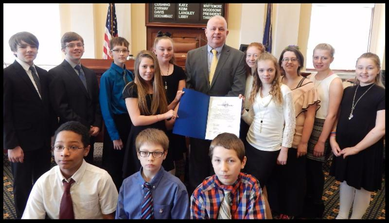 JMG President_ Craig Larrabee_ with Vassalboro CommunitySchool JMG students