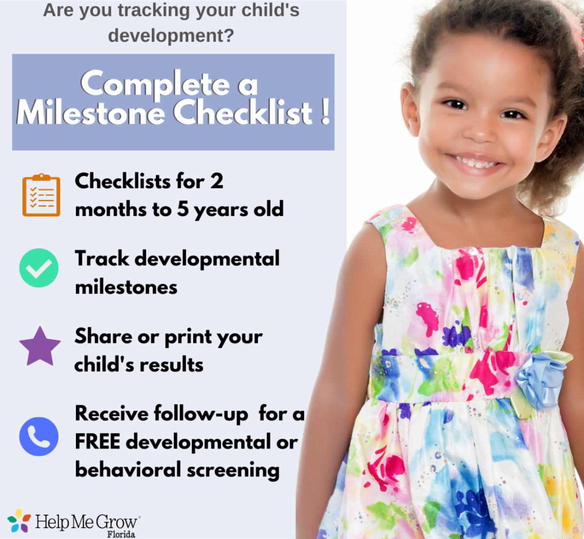 image of girl and HMG checklist services
