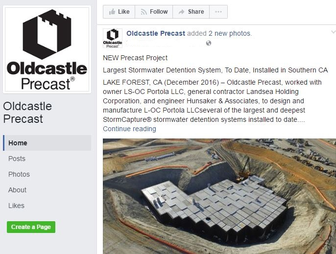 Oldcastle Precast FB page