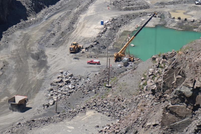 Shot of a quarry from above