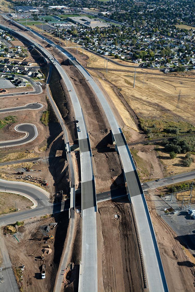 Highway aerial shot