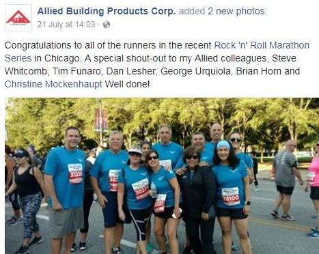 Employees at a marathon race
