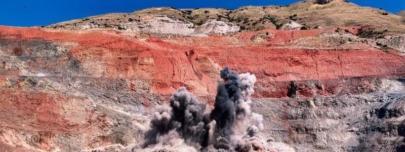 Blast at a quarry