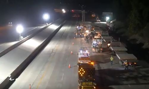 Highway being paved