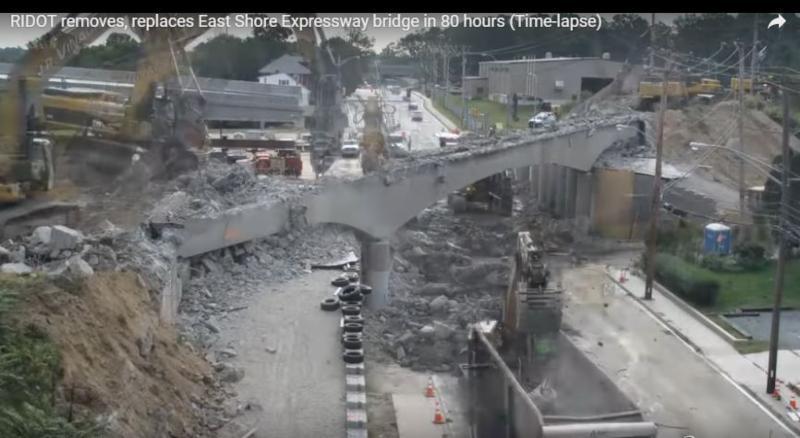 Screenshot of bridge construction
