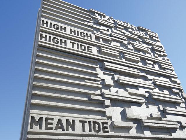 Concrete Panels That Show Tide Levels