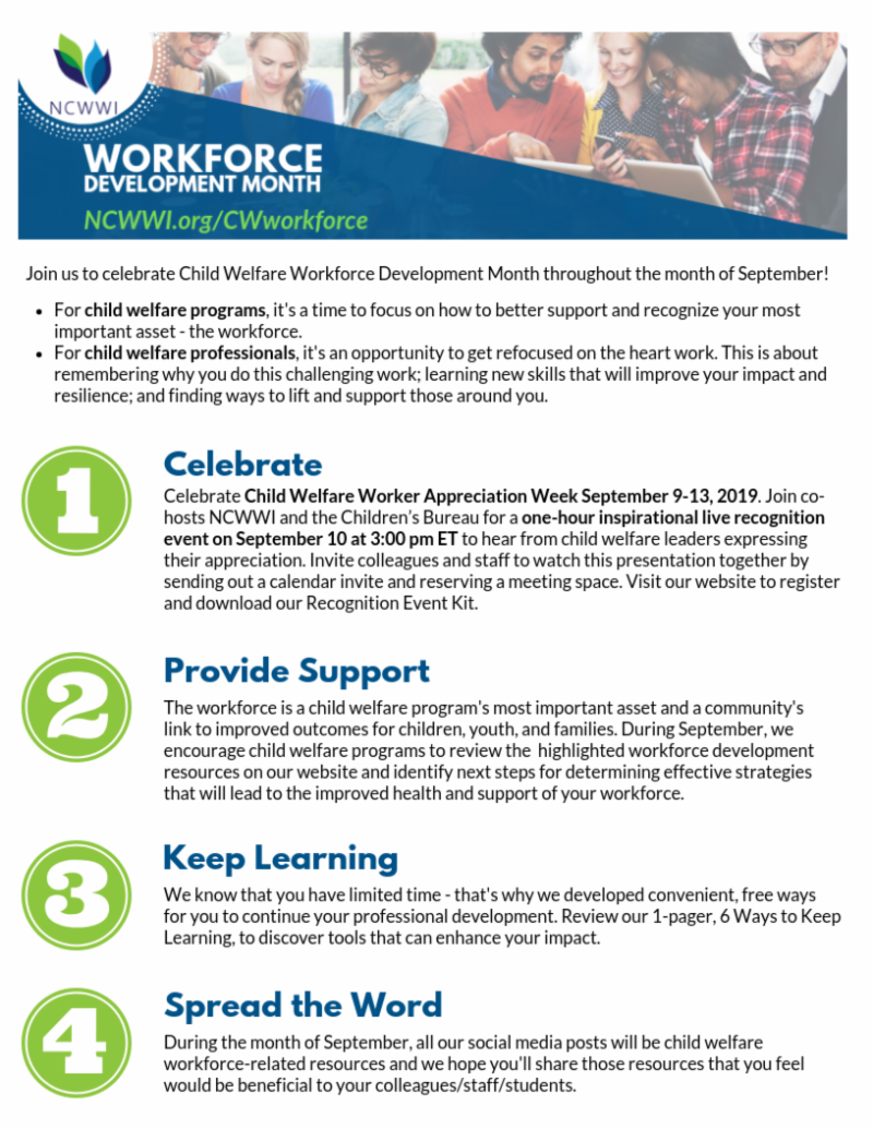 Workforce Development Month Flyer