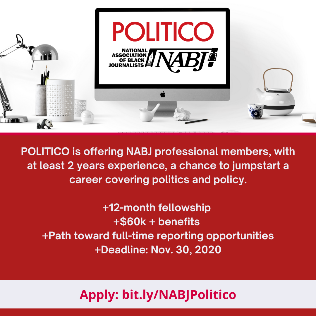 Apply for the Politico NABJ Fellowship for Professional Members