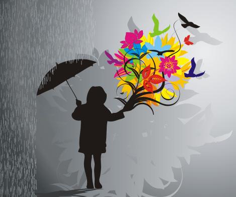 Blooming in the rain