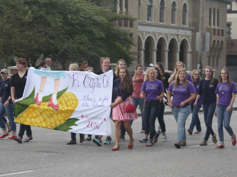 Pi Alpha Chi participates in the homecoming parade