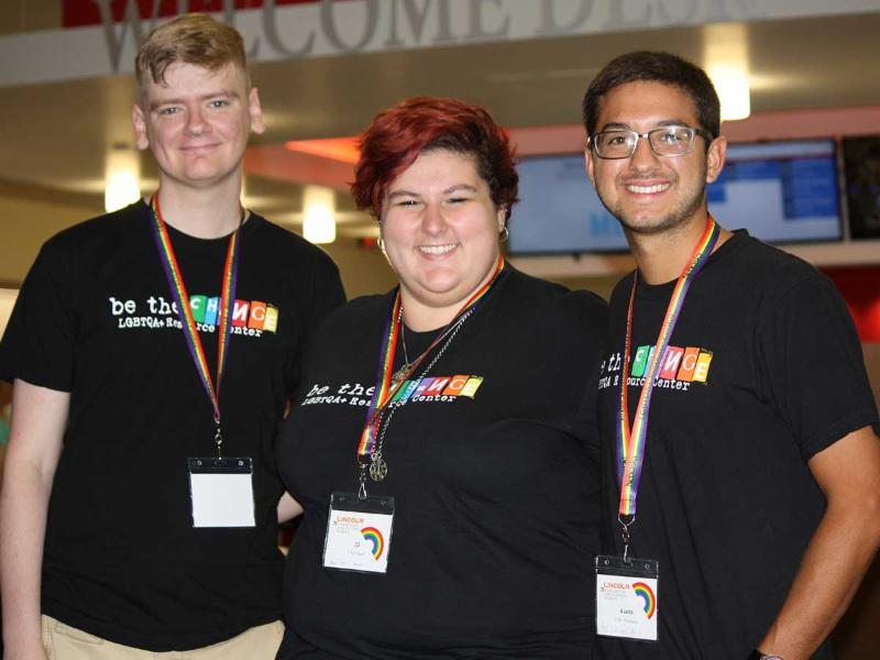 Volunteers at the Consortium of Higher Education LGBT Resource Professionals at UNL.