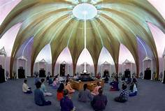 meditation in the interfaith shrine.