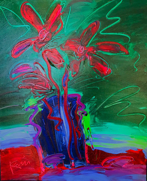 Flower Power by Peter Karis, 20x24 acrylic on canvas