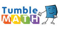 TumbleMath logo in red_ yellow_ green_ and blue colors