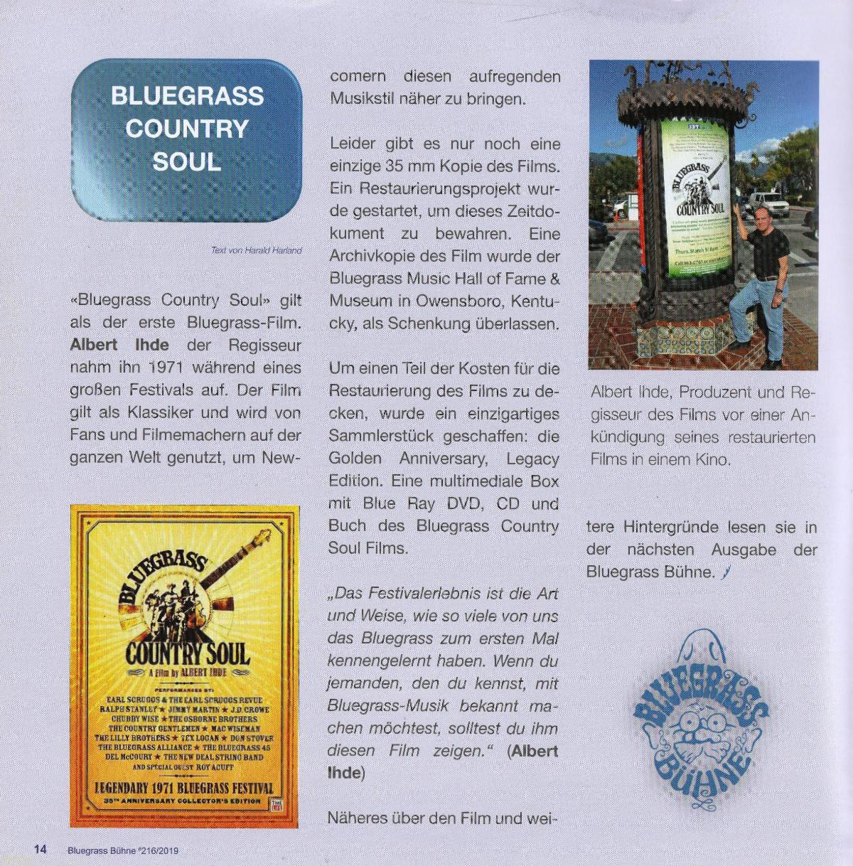 BGCS in No Fences a German Bluegrass Magazine