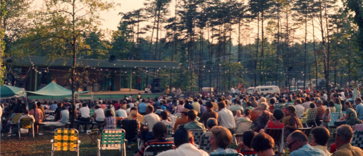 Photo of Festival Audience Looking at the Stage