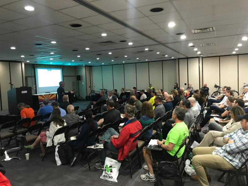 Listeners at the 2019 Arizona Bicycling Summit.