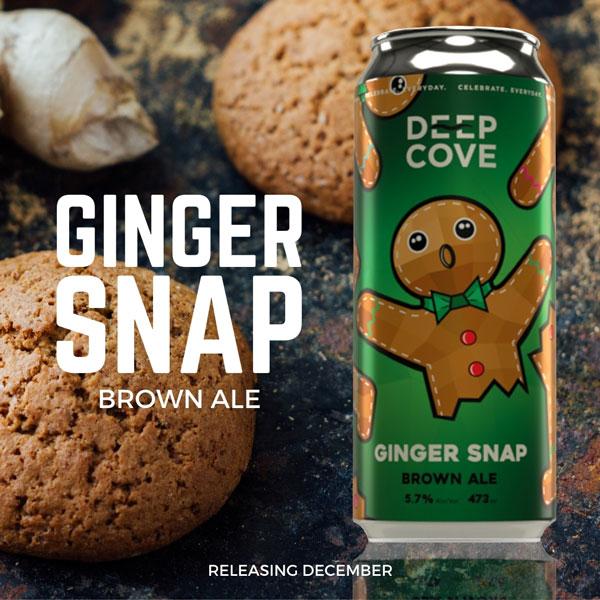 BCAT - 2020 Holiday Beer - Deep Cove Ginger Snap