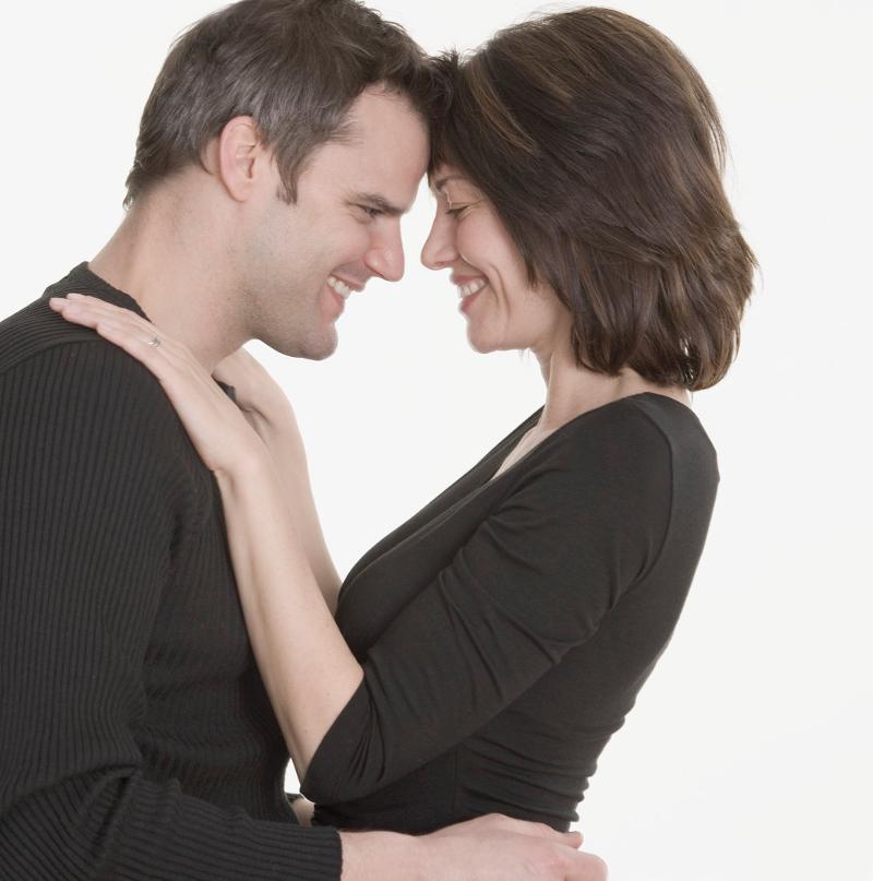 couple holding