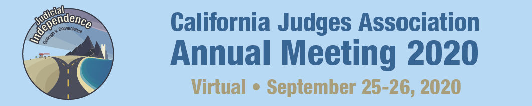 2020 Annual Conference logo with theme of Judicial Independence