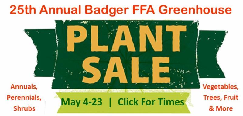 Badger FFA Plant Sale 2017 Graphic