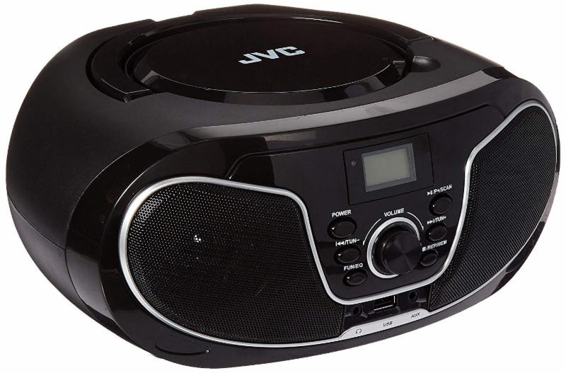 JVC Portable Bluetooth Radio CD/MP3 Boombox-  Worldwide Voltage