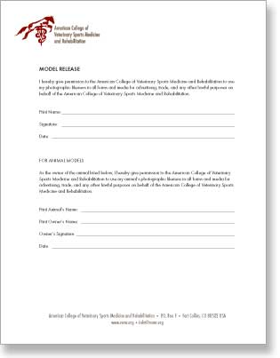 ACVSMR model release form