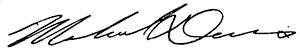 Michael Davis's signature