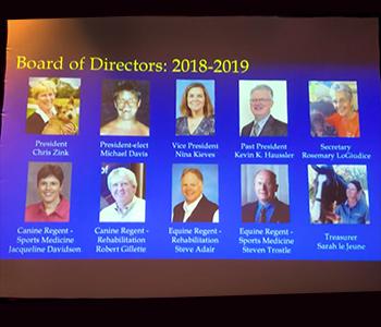 ACVSMR Board of Directors for 2018-19