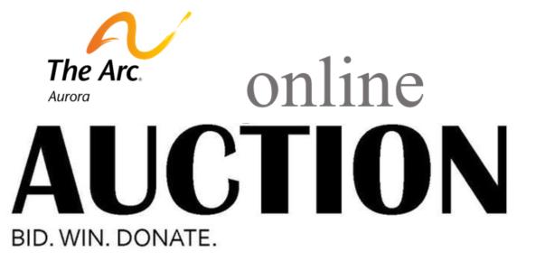 Logo that reads Online Auction Bid Win Donate
