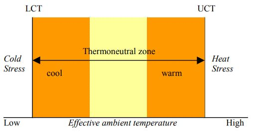 Thermoneutral zone graph