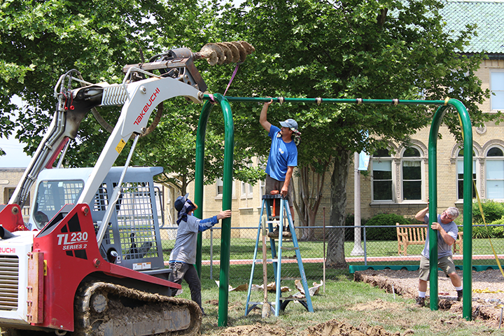 Youth Fitness Park construction